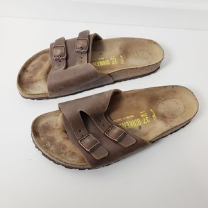 Birkenstock Brown Leather Sandals Size 6